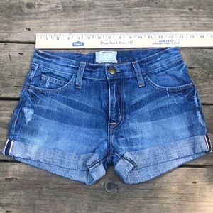 Current/Elliot Relaxed Distress Legacy Cuff Short